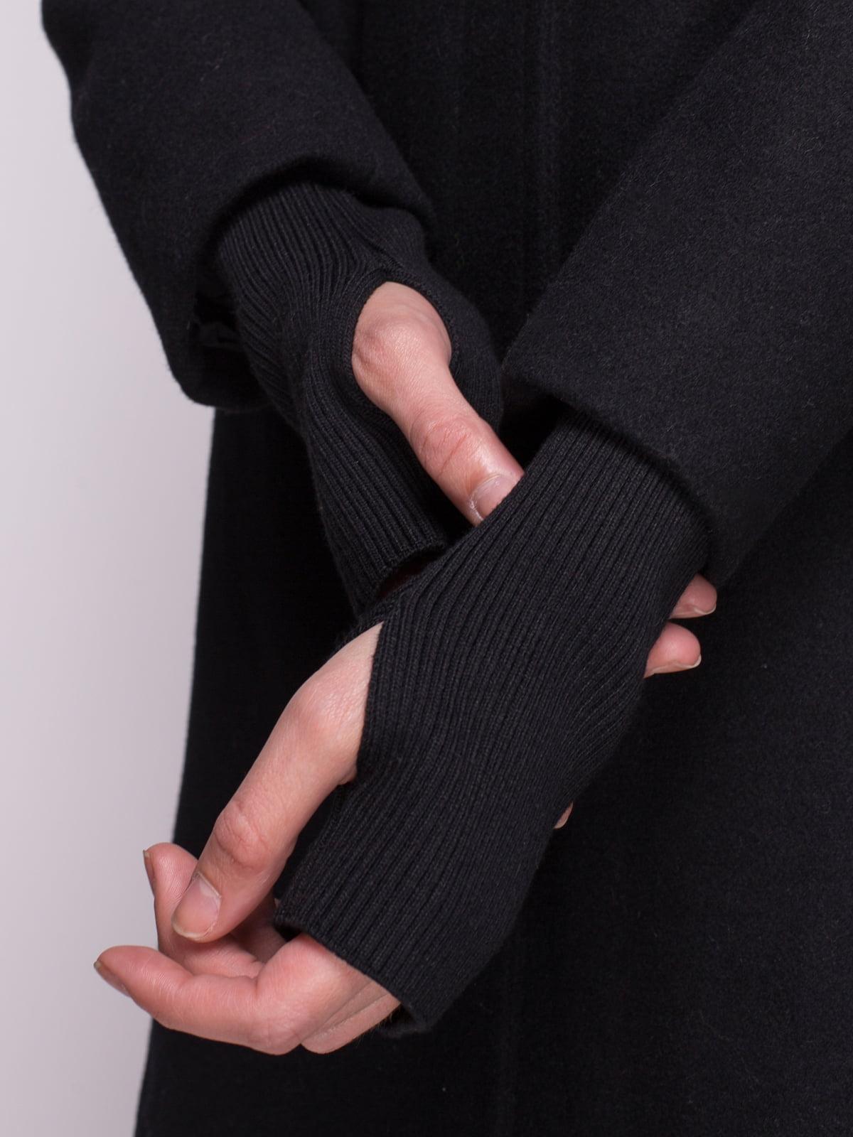 Пальто черное | 4456345 | фото 4