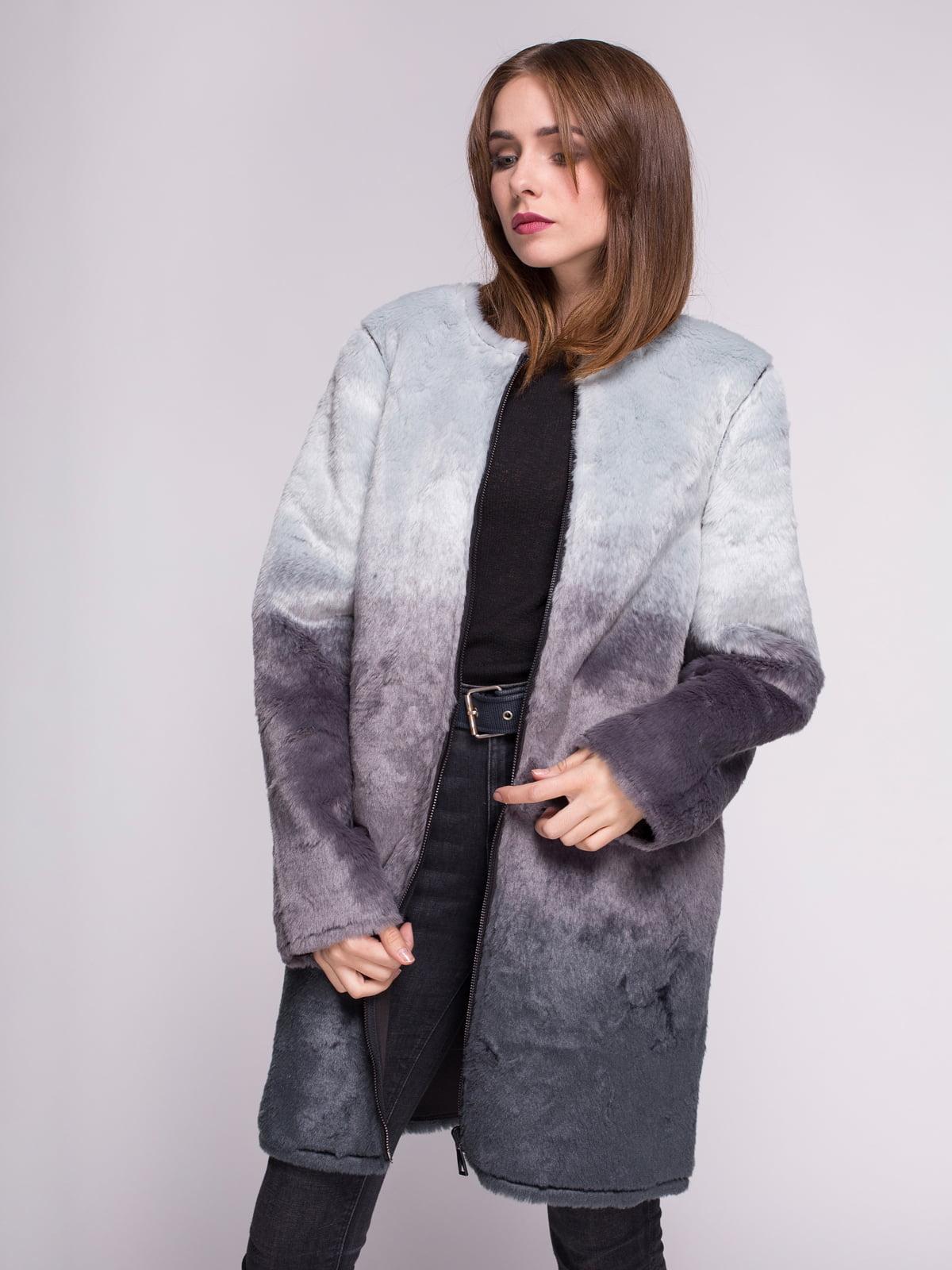 Пальто графитового цвета | 4456341 | фото 5