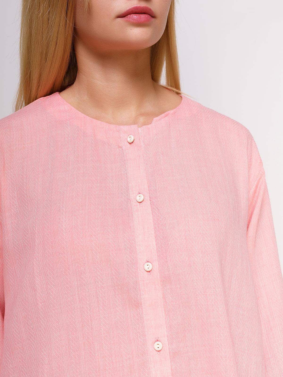 Рубашка розовая | 4495570 | фото 4