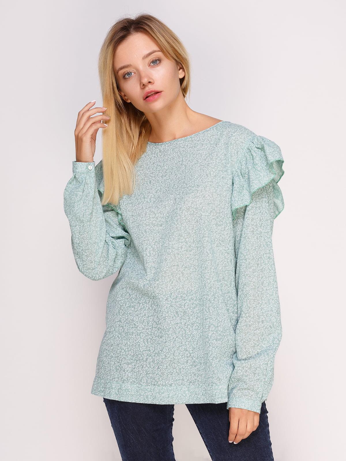 Блуза зеленая | 4495571