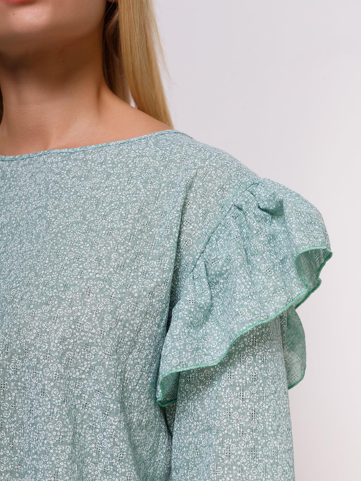 Блуза зеленая | 4495571 | фото 4