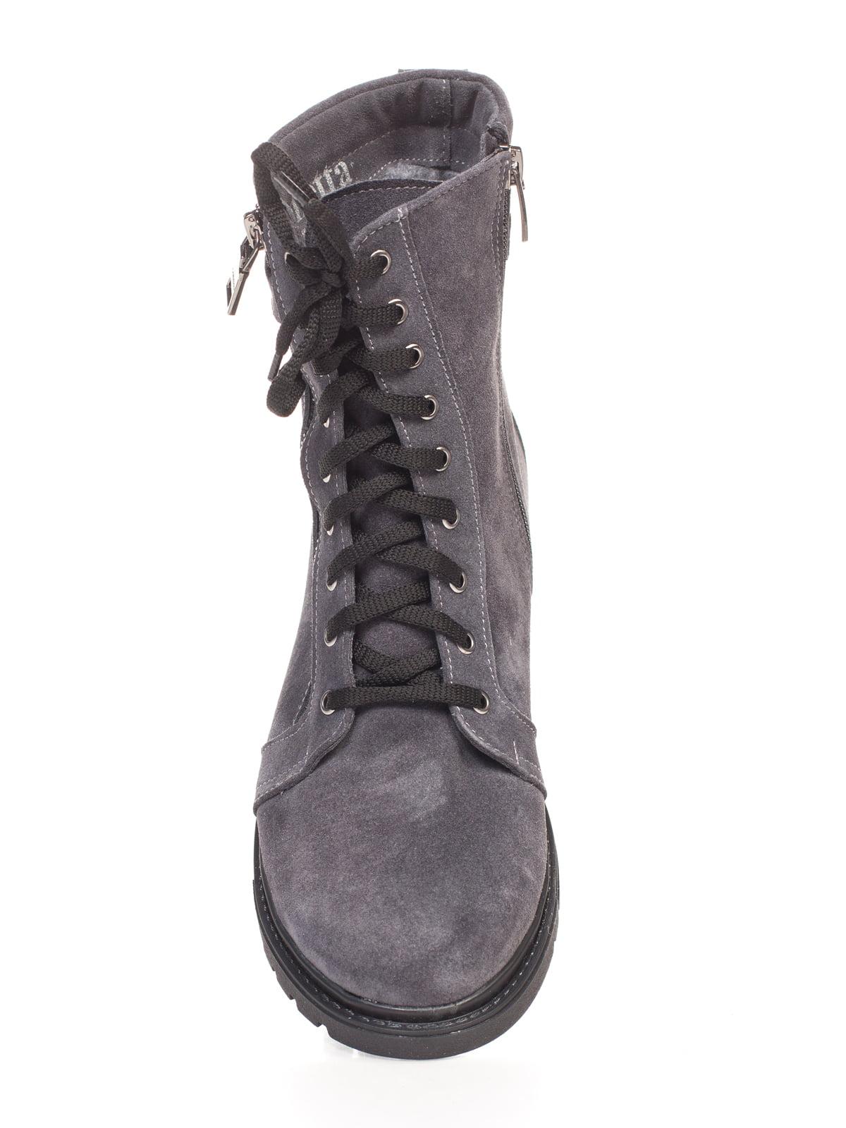 Ботинки серые | 4592827 | фото 4