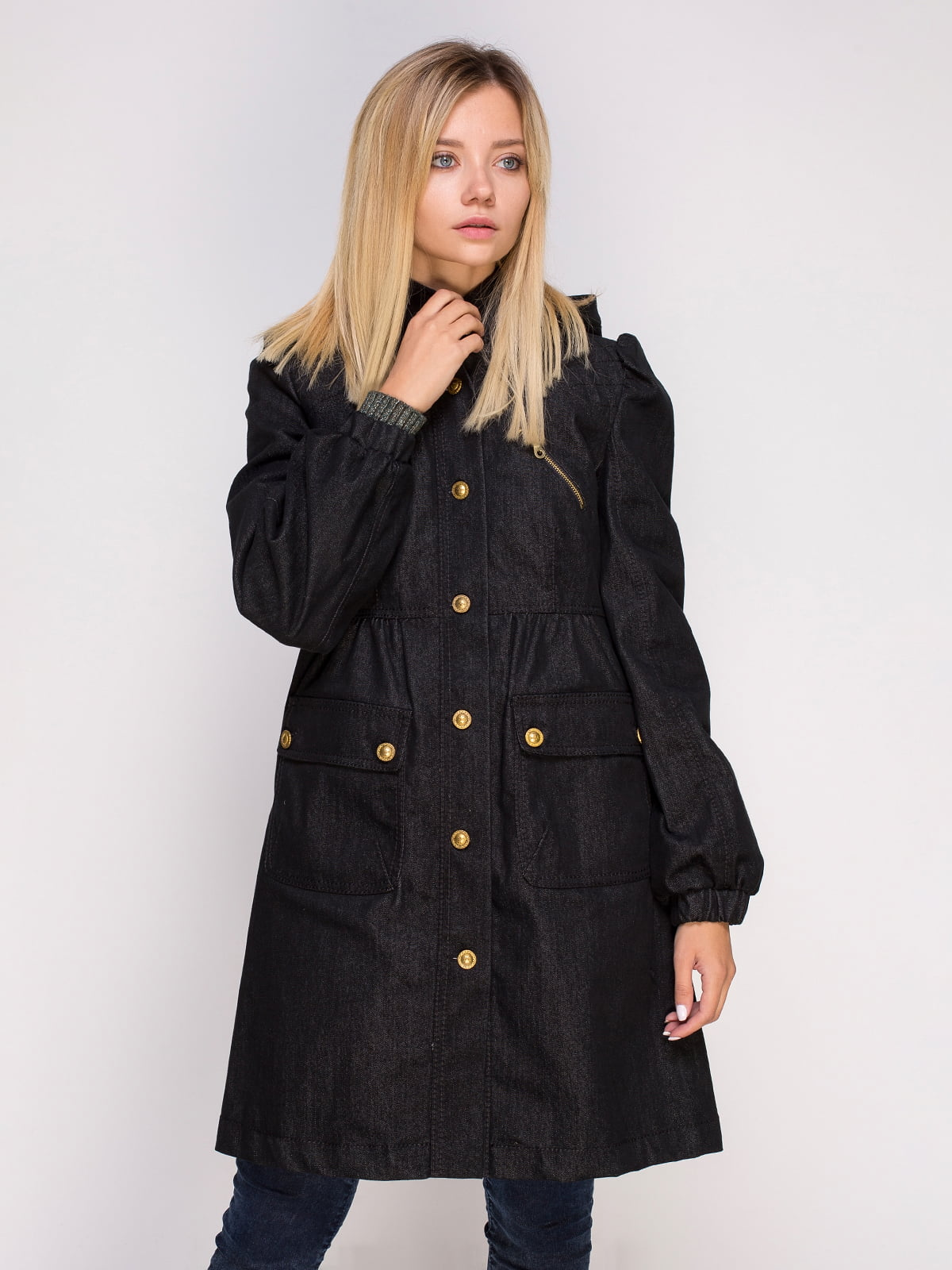 Пальто темно-серое | 4599383