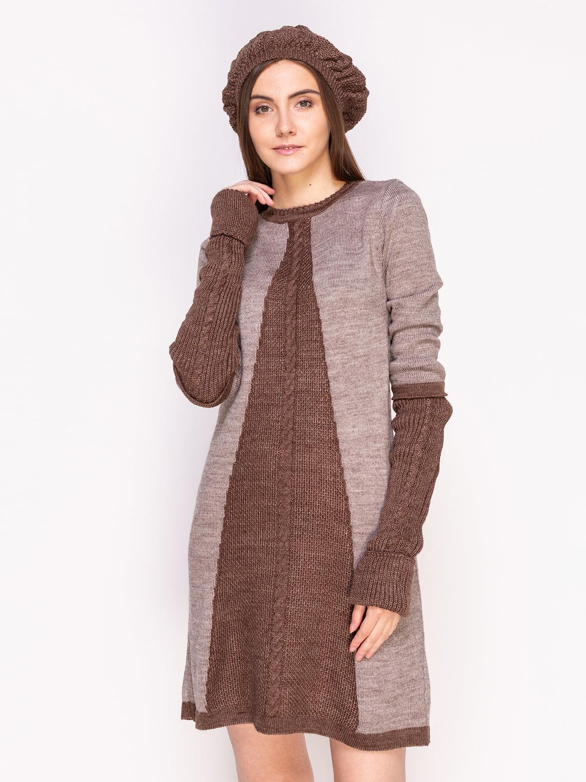 Комплект: сукня, берет і гетри | 4600920