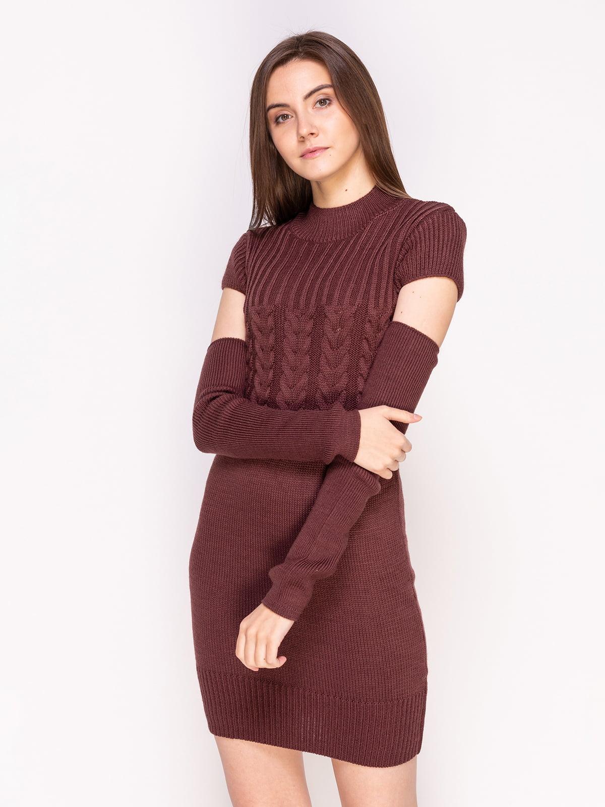 Сукня кольору мокко | 4600944