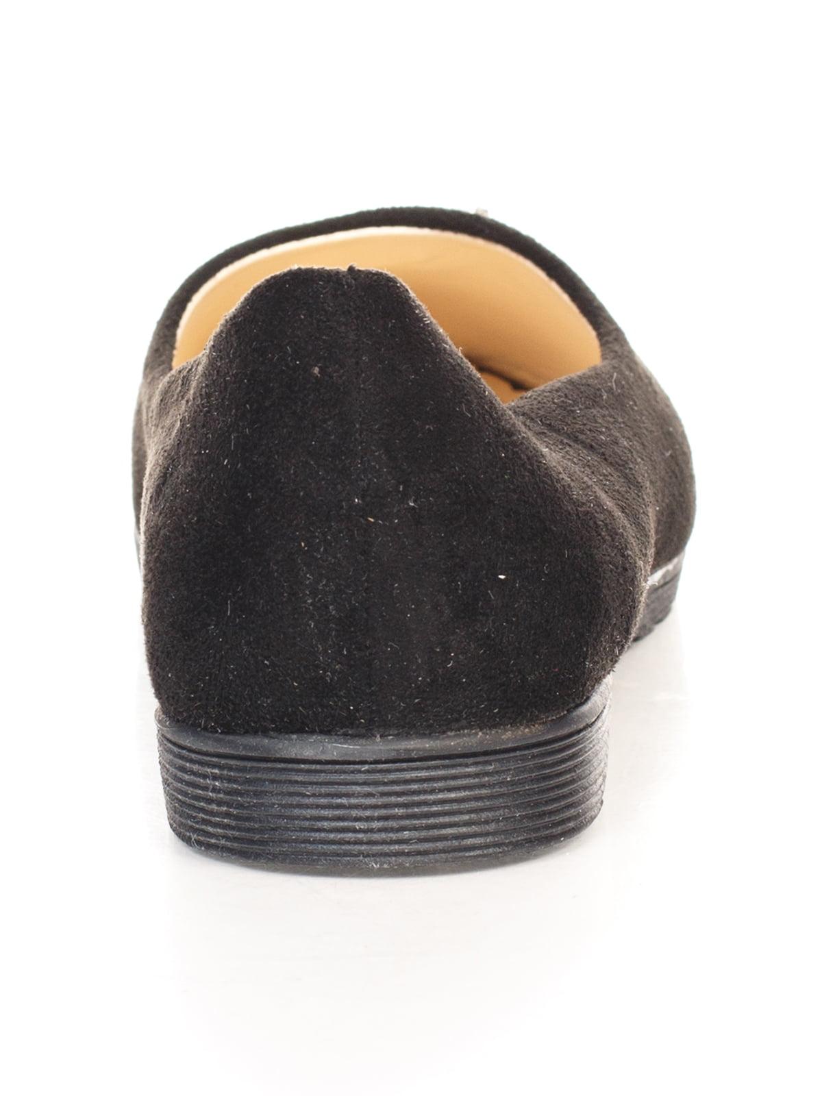 Балетки черные с декором | 4605166 | фото 3