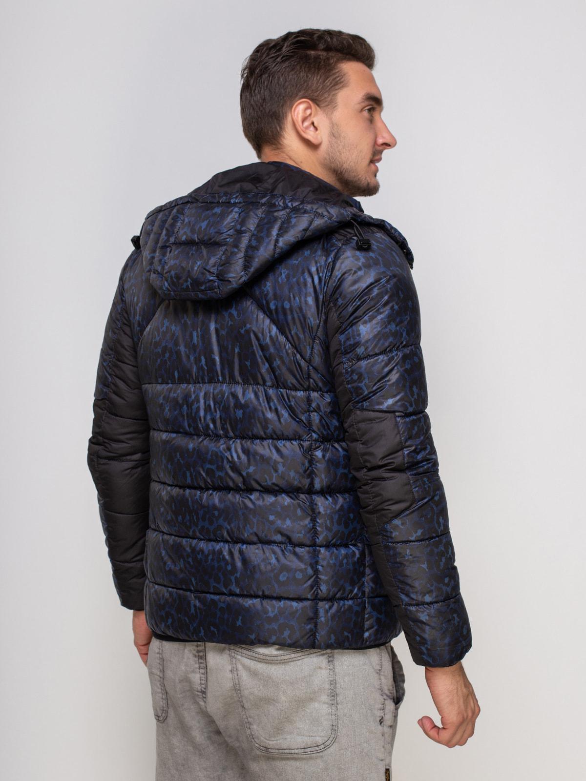Куртка синяя в принт | 4512906 | фото 2