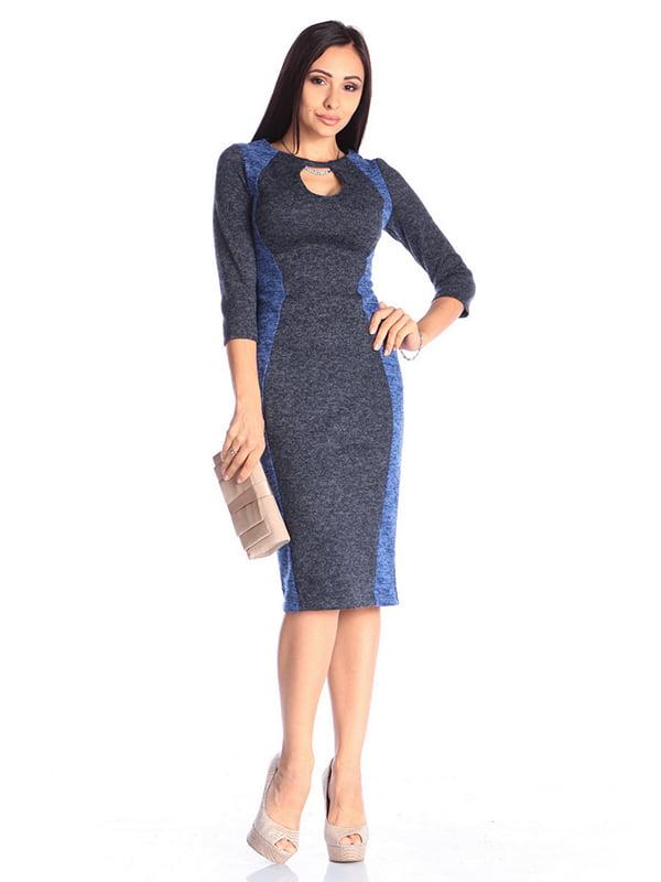 Сукня кольору електрик з темно-синім | 4610381