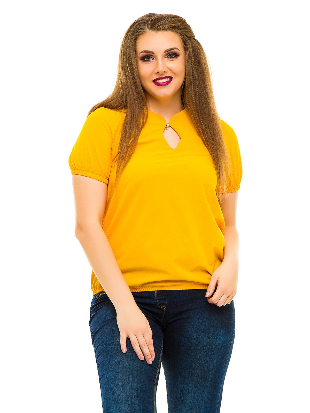 Блуза горчичного цвета | 3315436