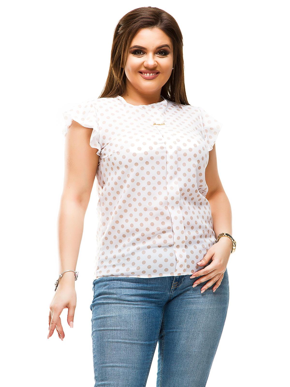 Блуза біла в горошок | 4613965