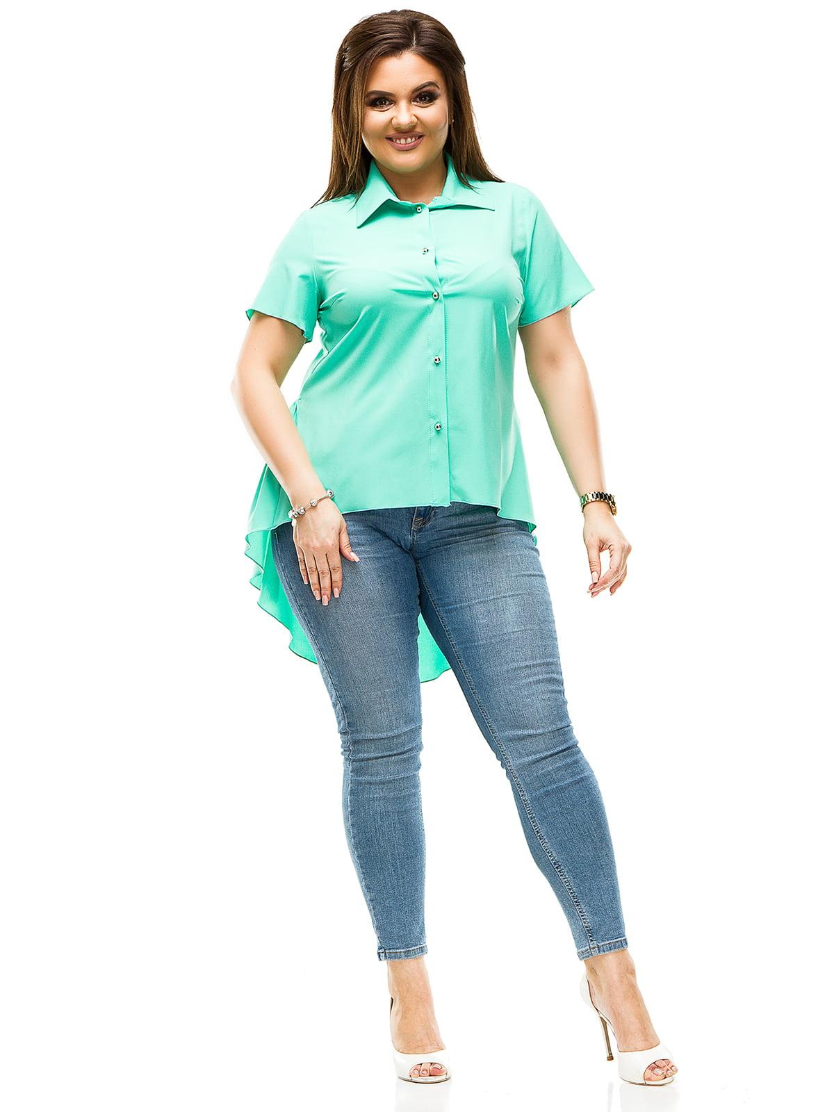 Рубашка мятного цвета | 4614086