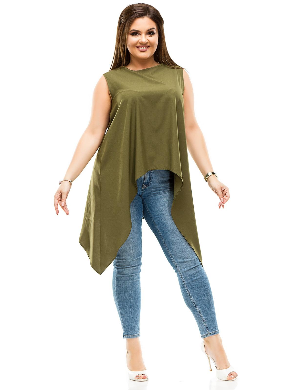 Блуза цвета хаки   4614089