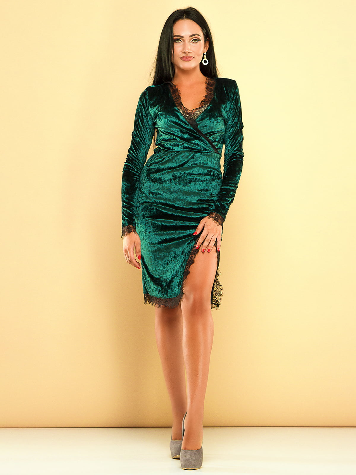 Сукня темно-зелена | 3701546