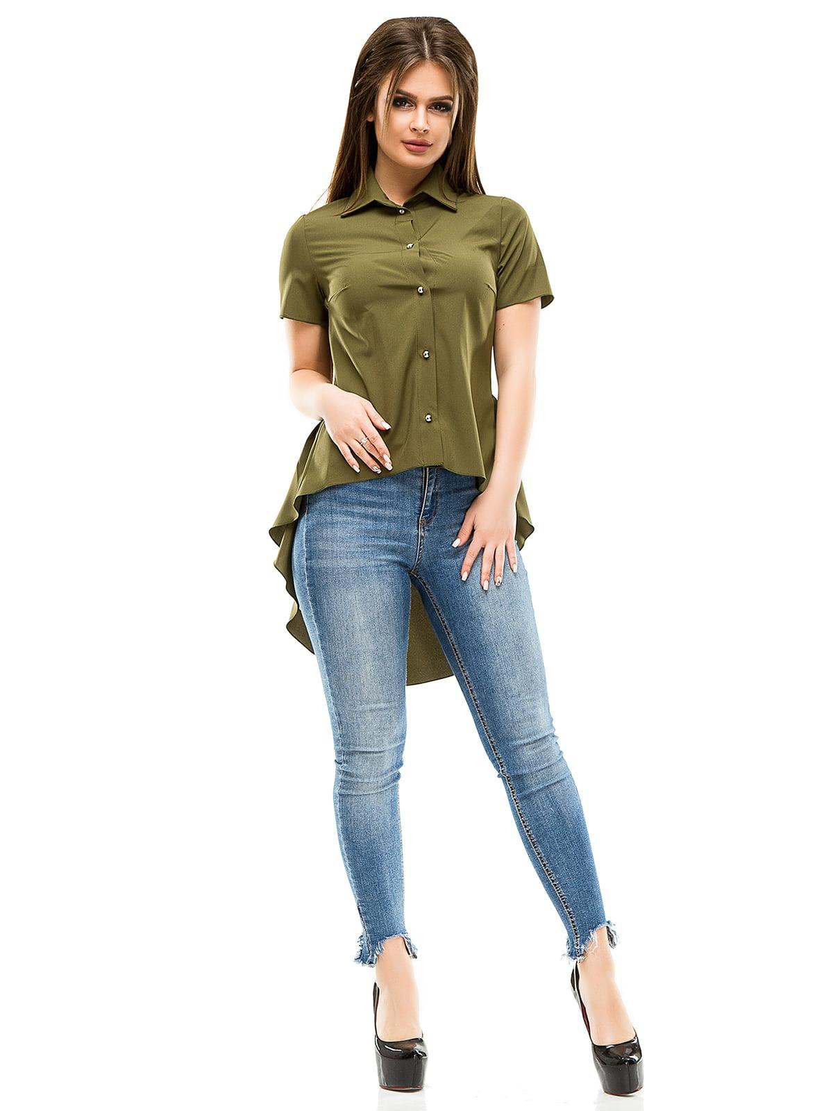 Рубашка цвета хаки | 4613501