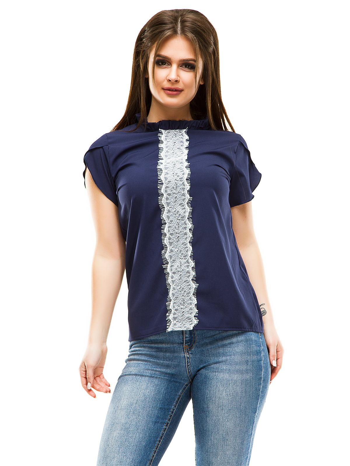 Блуза темно-синя | 4613514