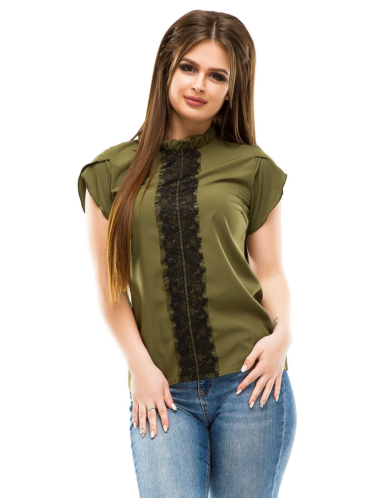 Блуза кольору хакі | 4613529