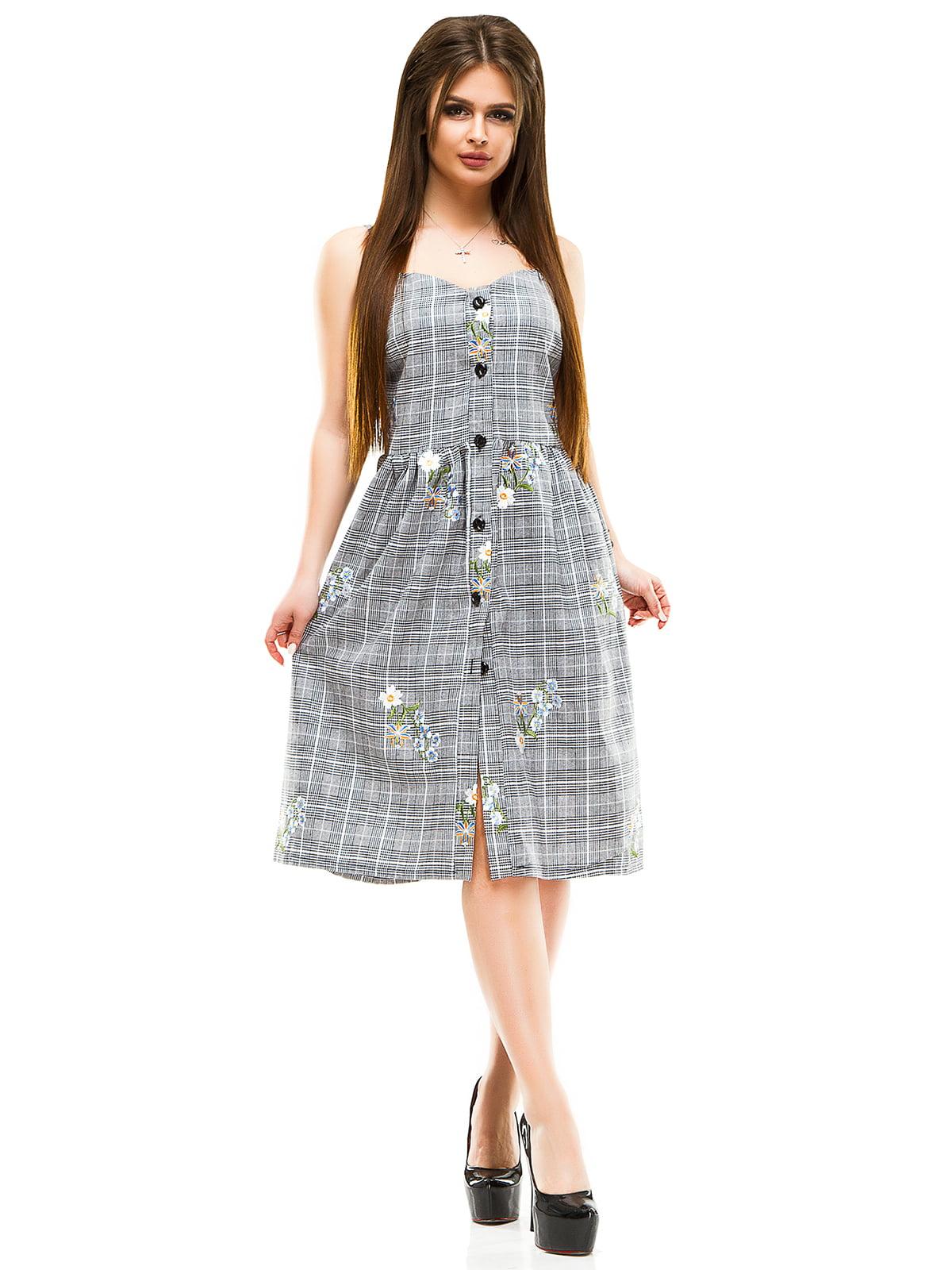 Сукня сіра в клітинку | 4613566