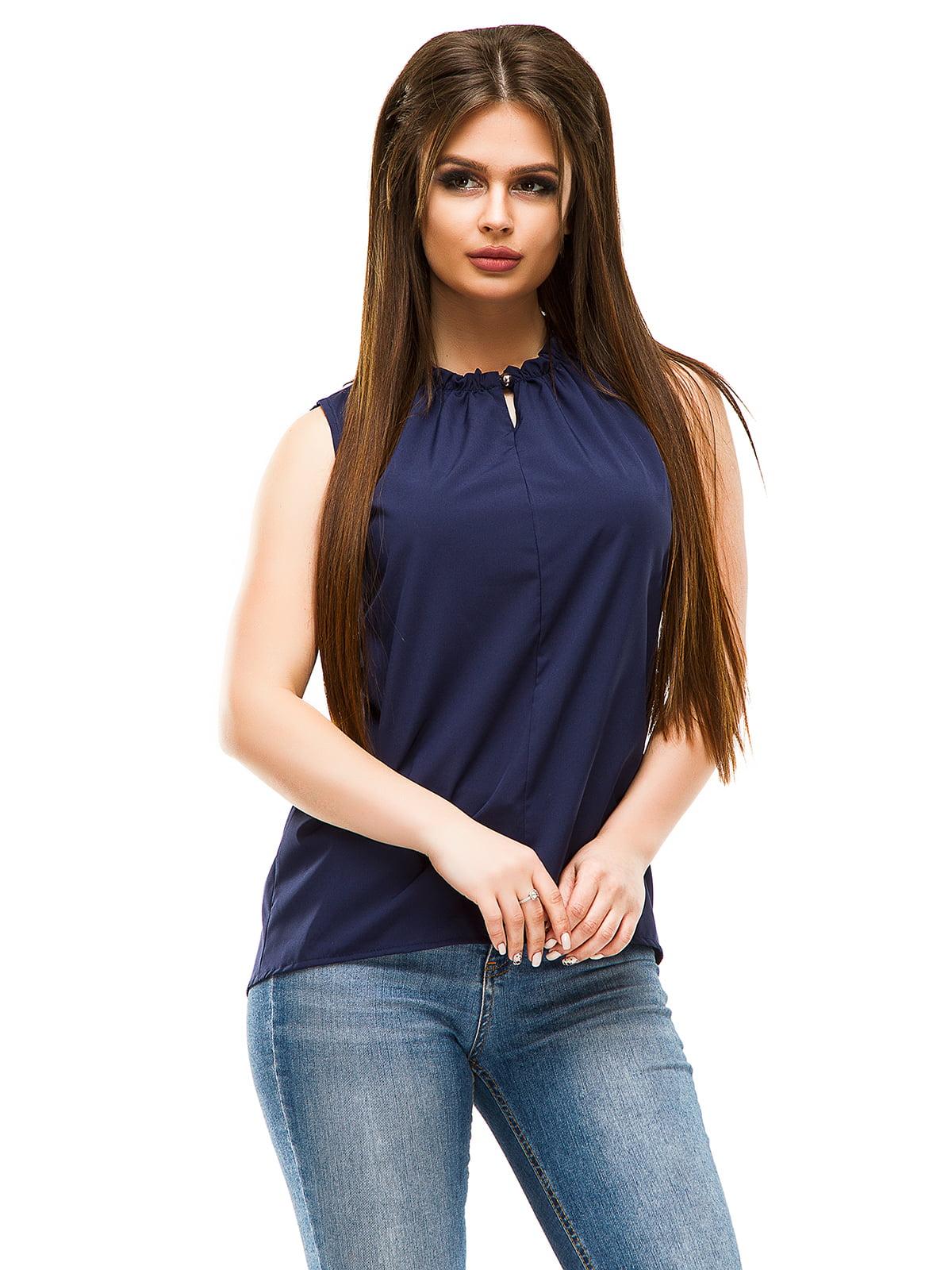 Блуза темно-синя | 4613707