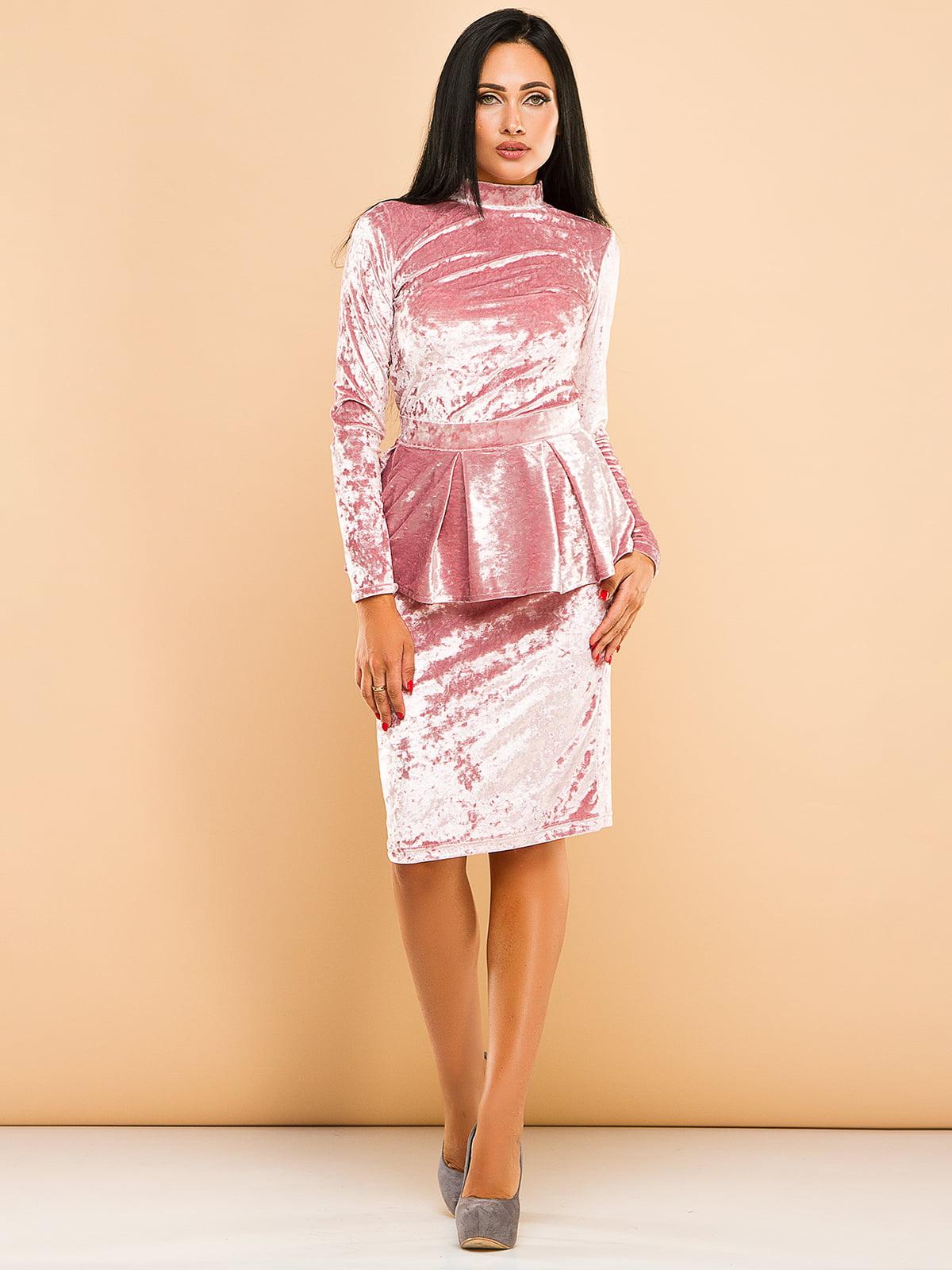 Сукня кольору пудри | 4613747