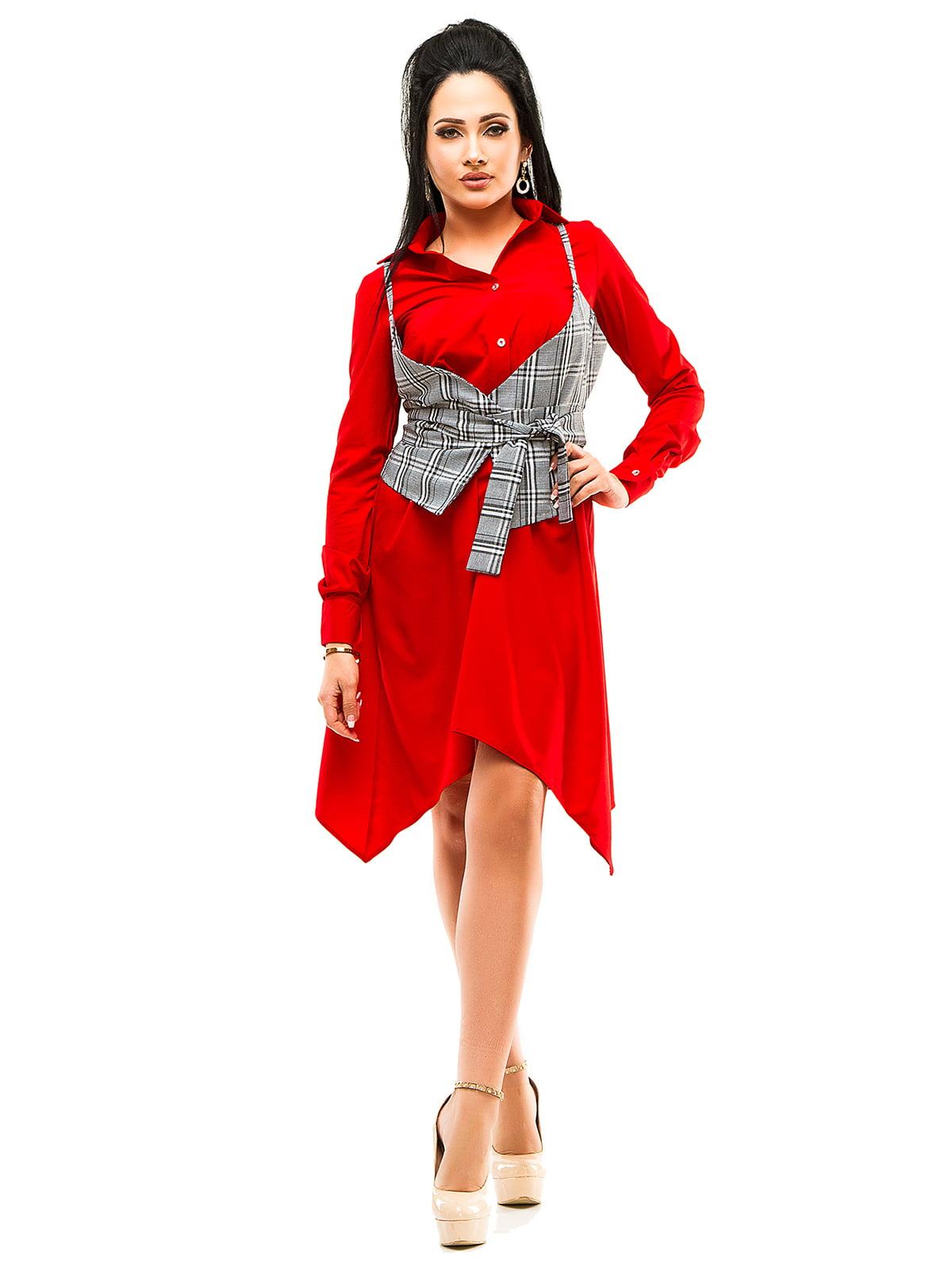 Платье красное | 4613794