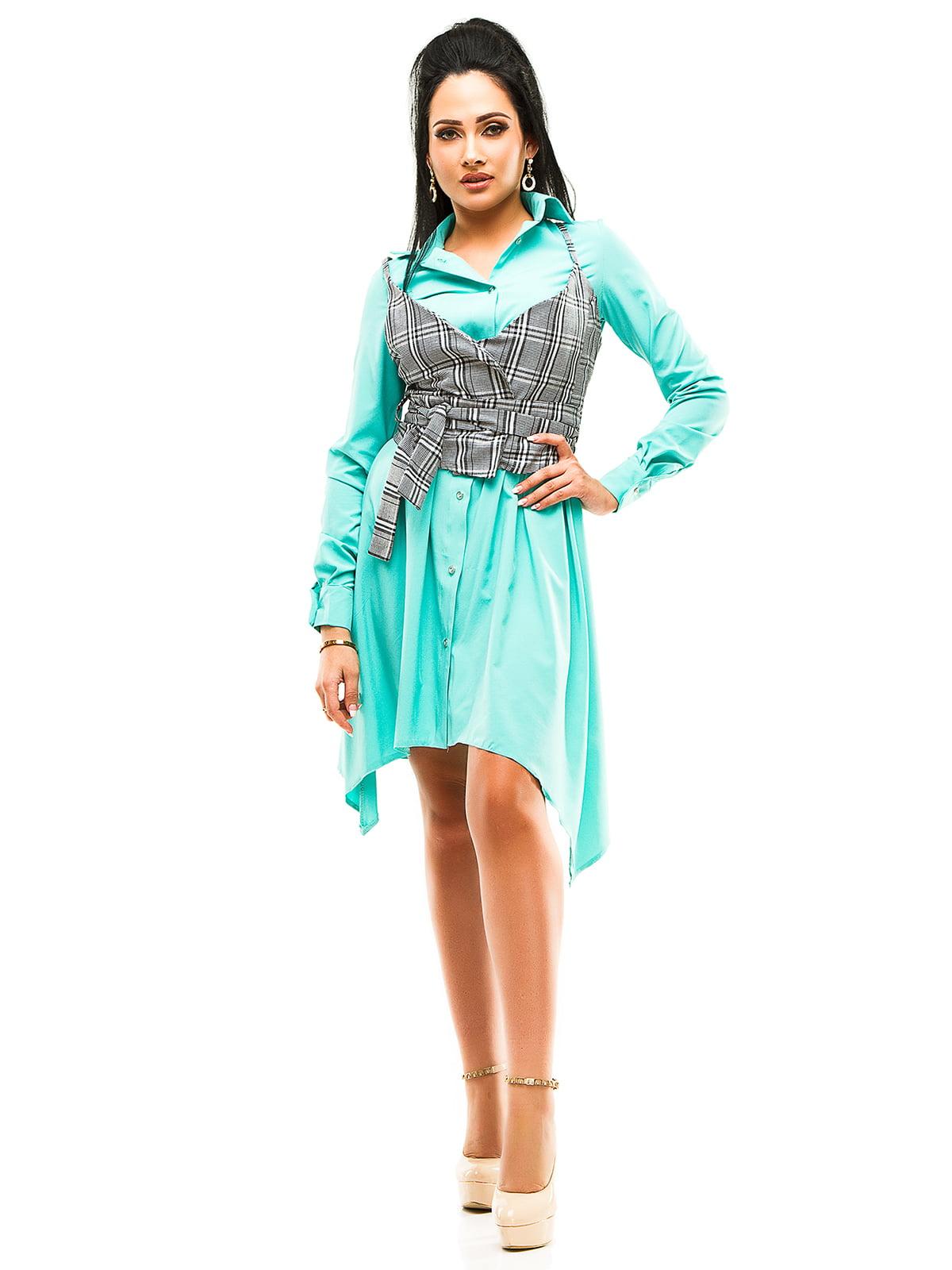 Платье мятного цвета | 4613796