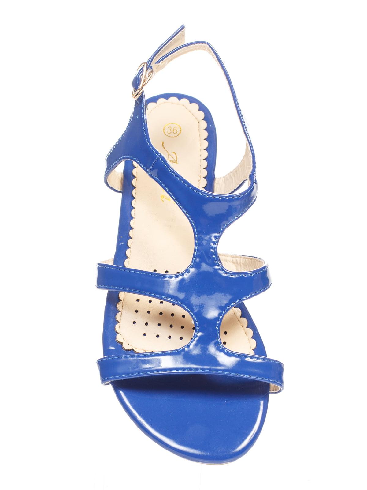 Сандалии синие | 4605211 | фото 4
