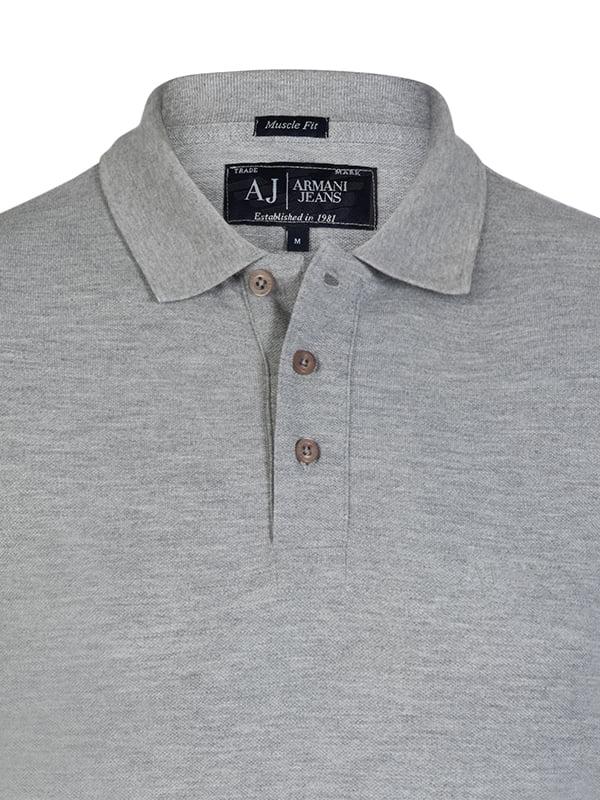 9d7a10a0b262 Футболка-поло серая — Armani, акция действует до 3 апреля 2019 года |  LeBoutique — Коллекция брендовых вещей от Armani — 4602147
