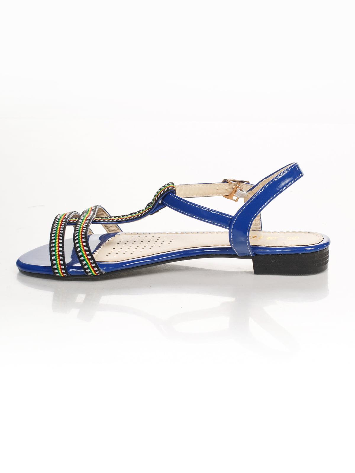 Сандалии синие с вышивкой | 4605216 | фото 2