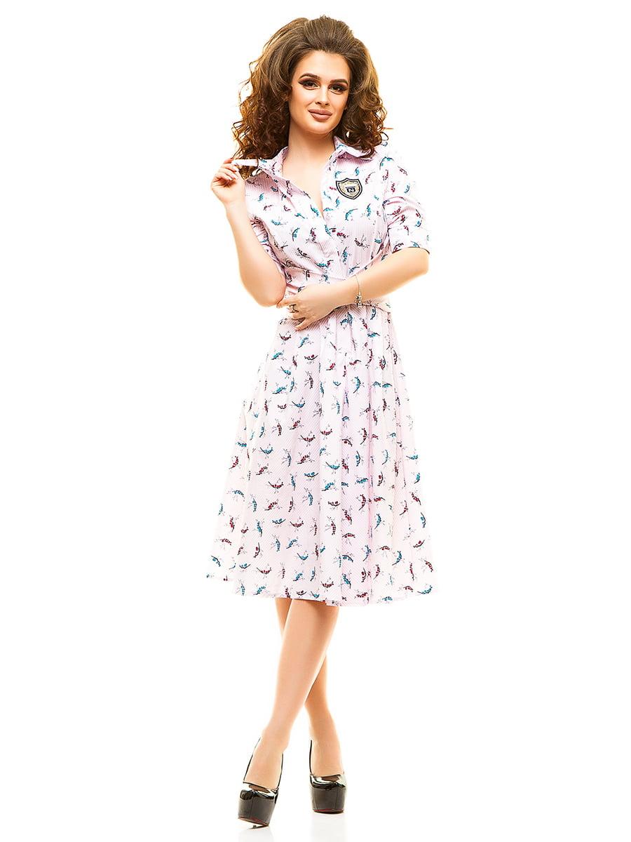 Сукня рожева у принт   4615464