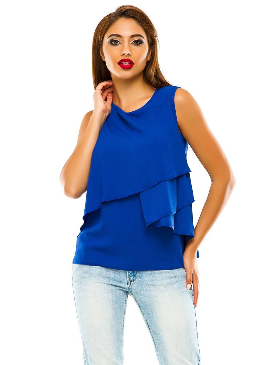 Блуза кольору електрик | 4615606