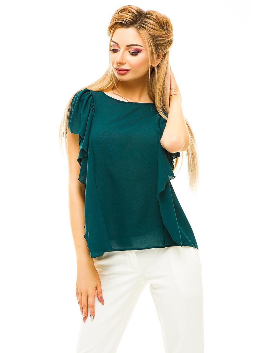 Блуза темно-зелена | 4615675