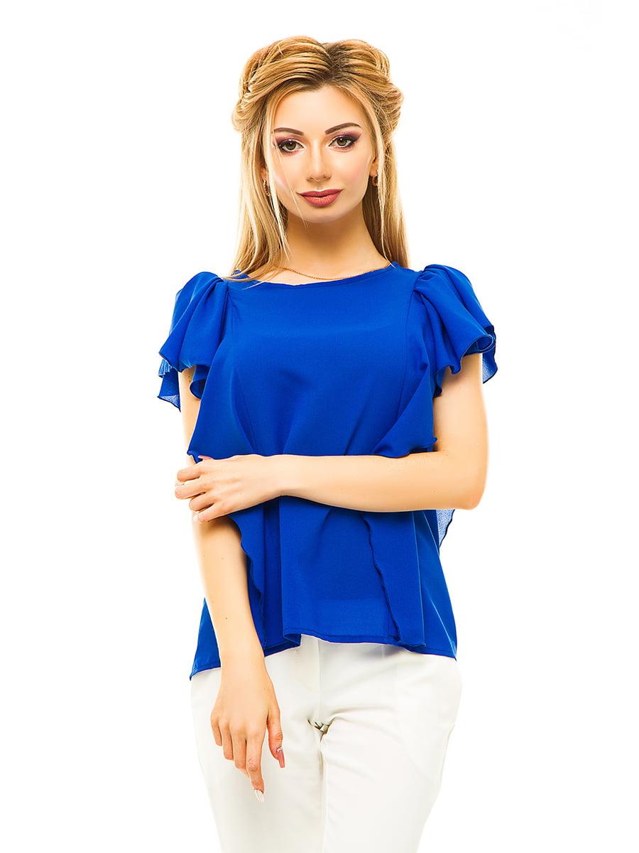 Блуза кольору електрик | 4615676