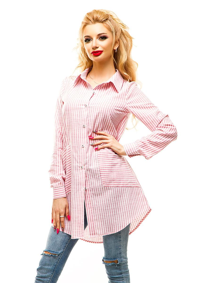 Туніка рожева в смужку | 4615981