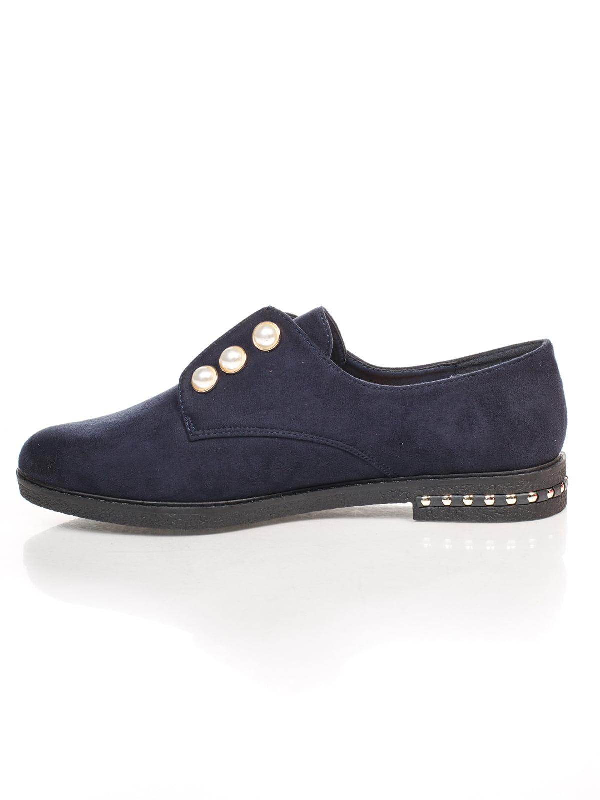Туфли синие с декором | 4605868 | фото 2