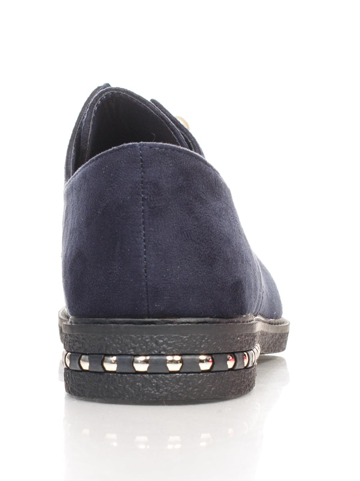 Туфли синие с декором | 4605868 | фото 3