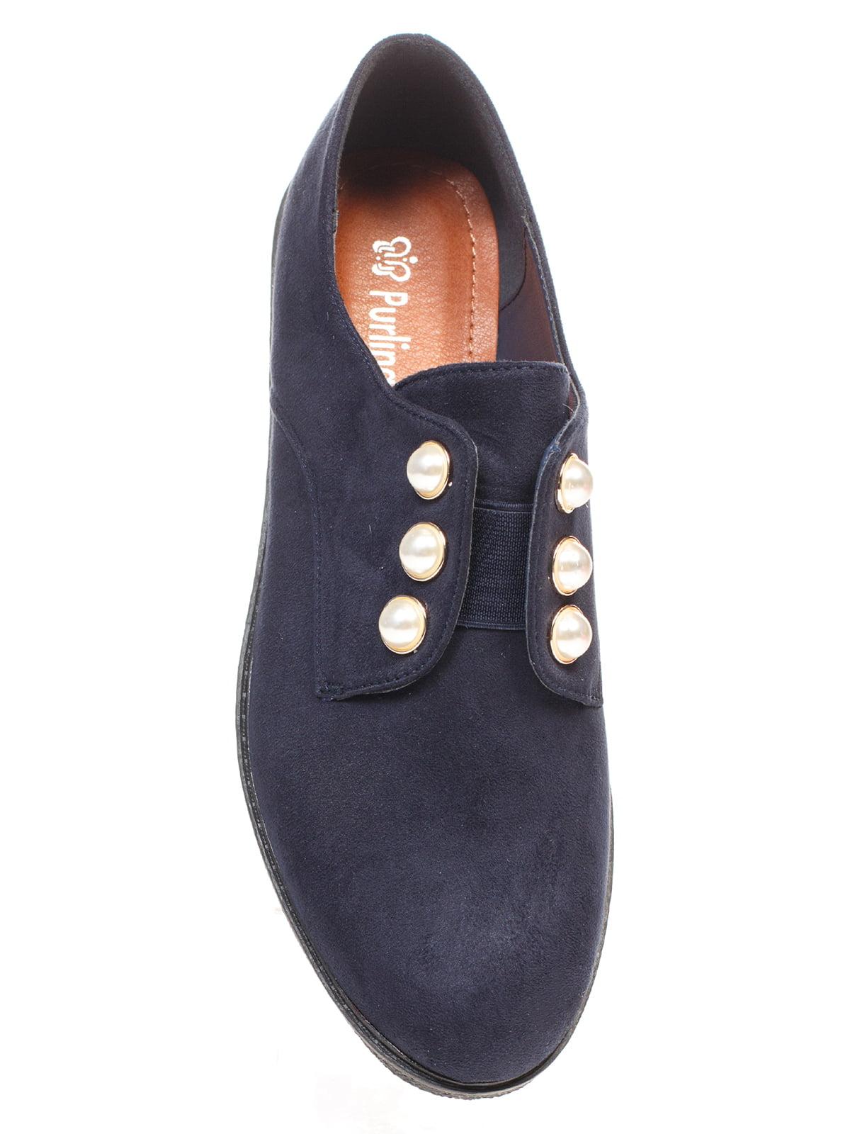 Туфли синие с декором | 4605868 | фото 4