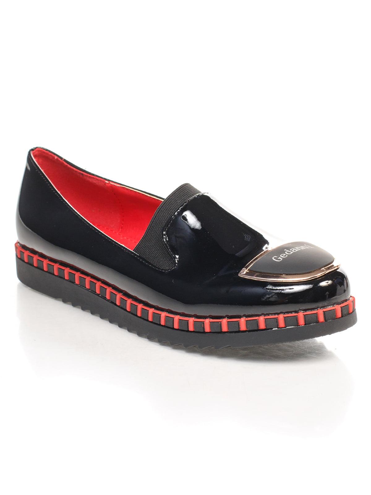 Туфли черные с декором   4605856