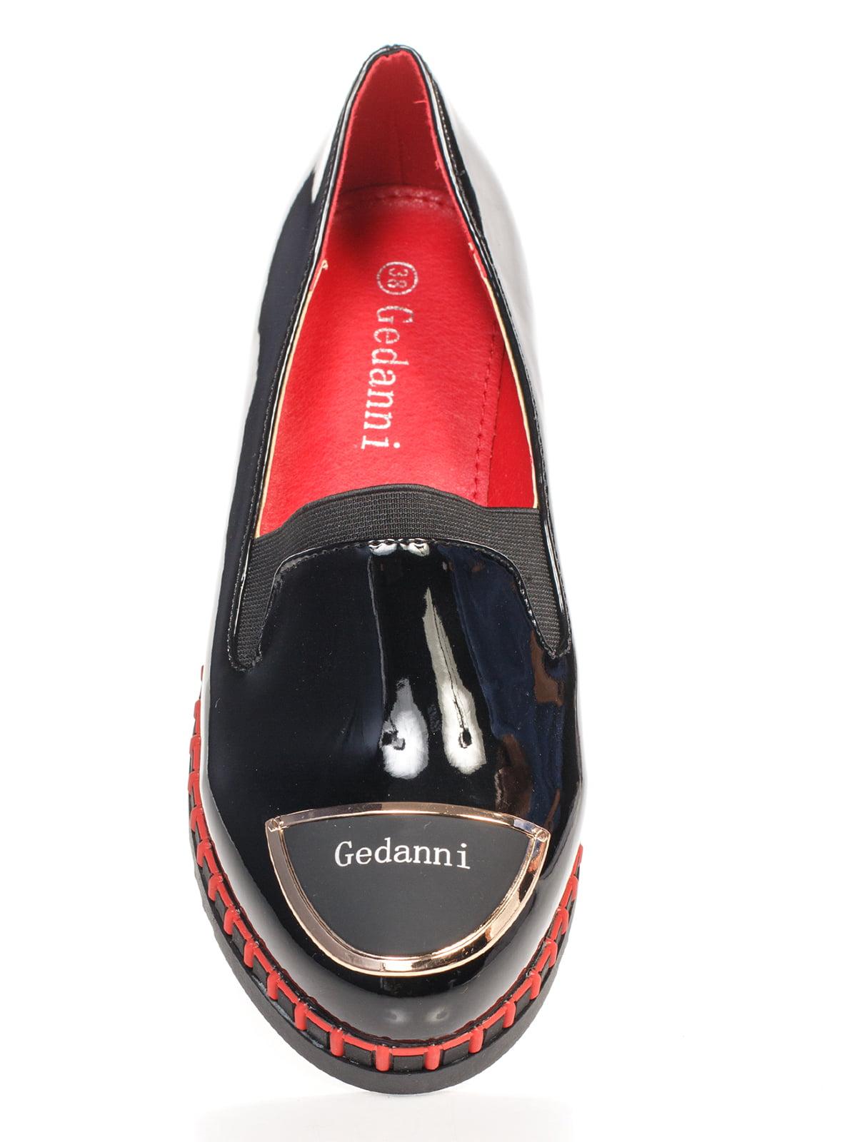 Туфли черные с декором   4605856   фото 4