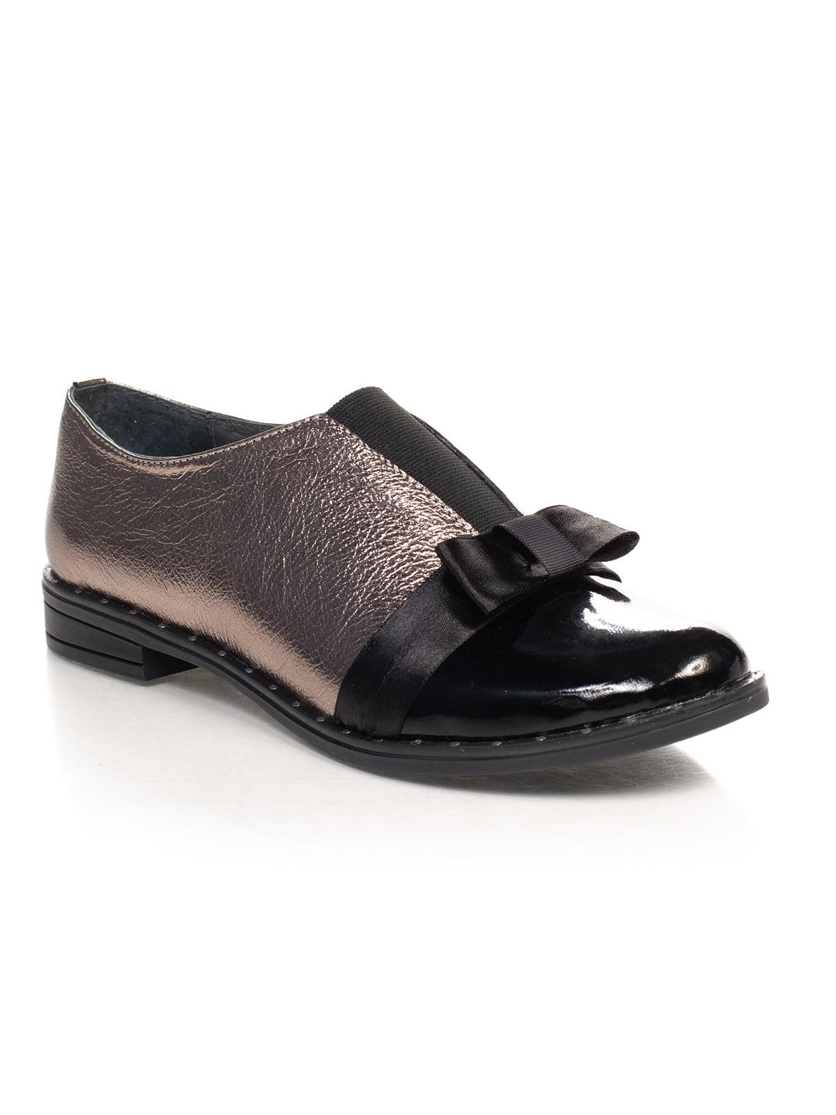 Туфлі чорно-бронзового кольору | 4617787