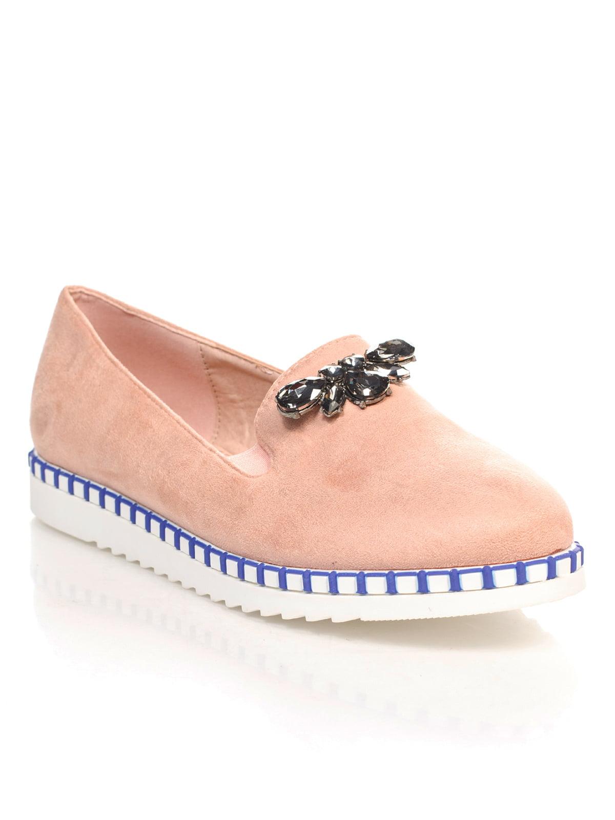 Туфли розовые с декором | 4605862