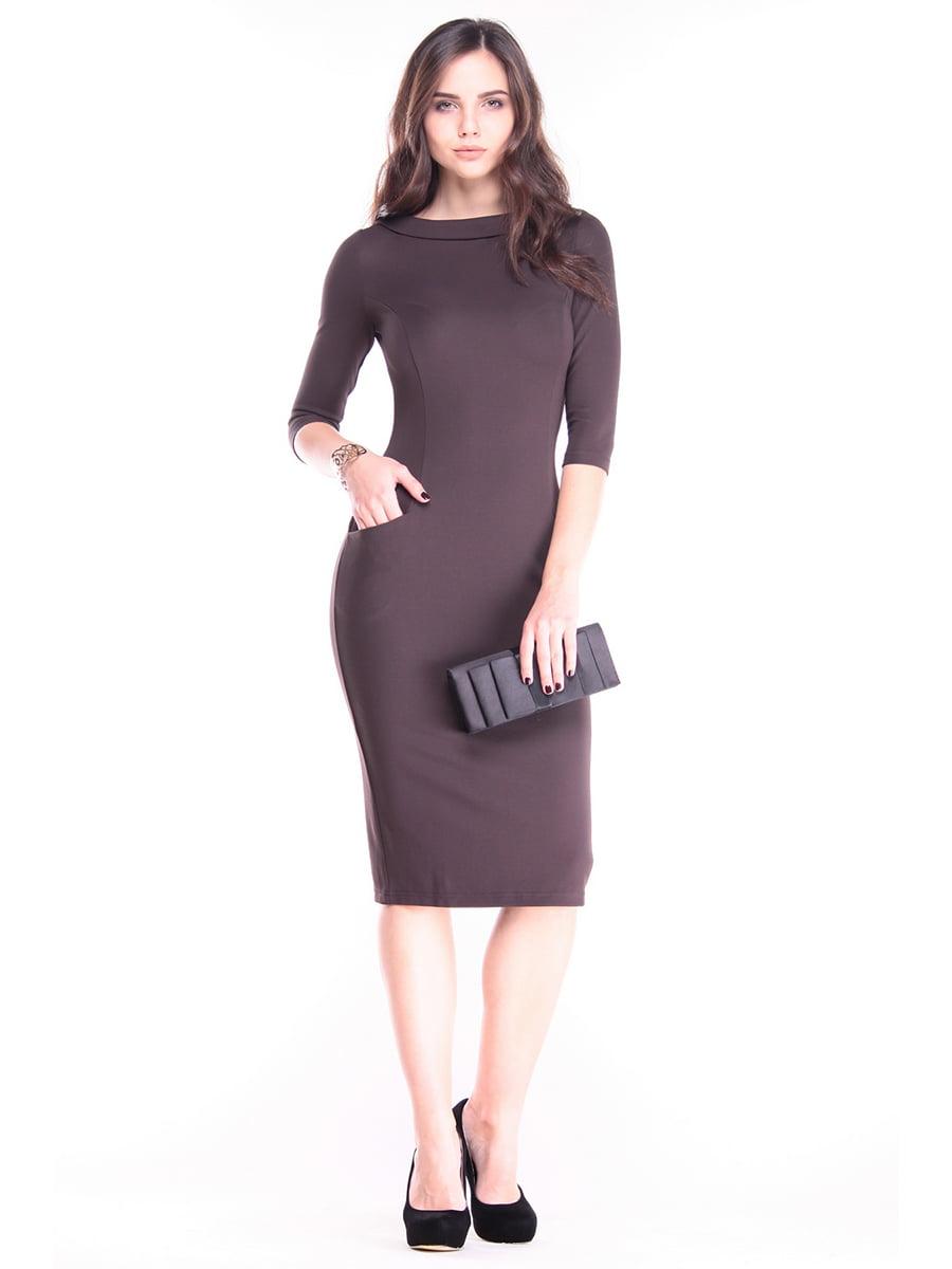 Сукня шоколадного кольору | 2844939
