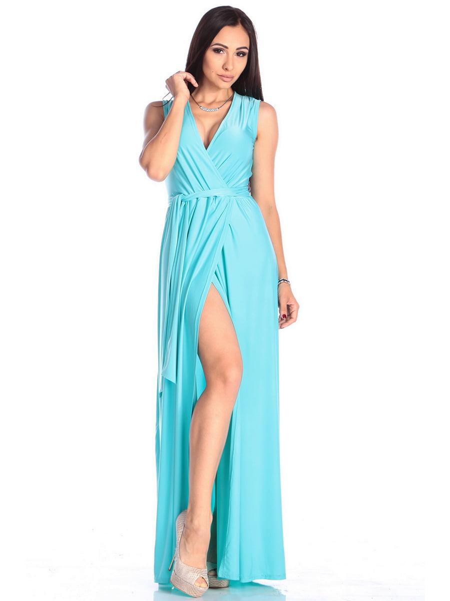 Платье бирюзовое | 4614803 | фото 3