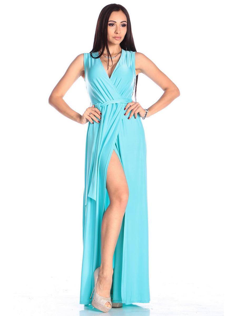 Платье бирюзовое | 4614803 | фото 5