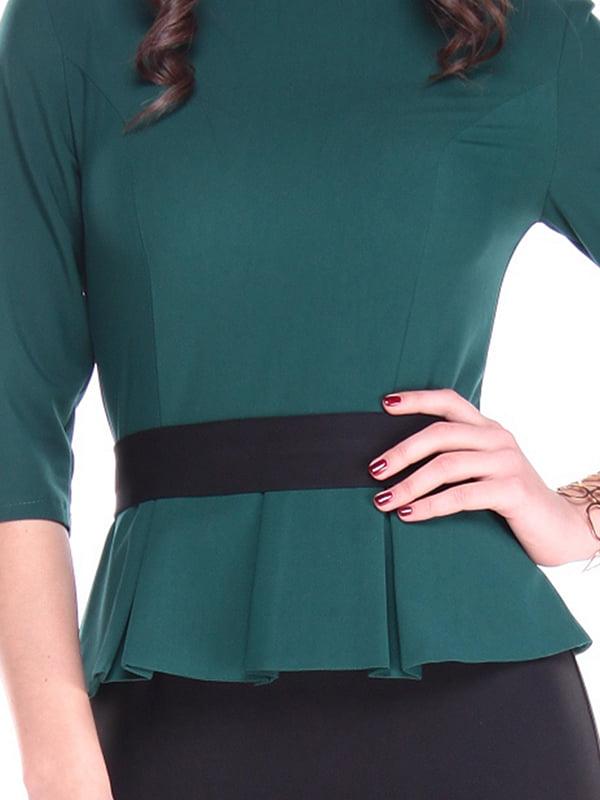 Платье темно-изумрудного цвета | 4619740 | фото 3