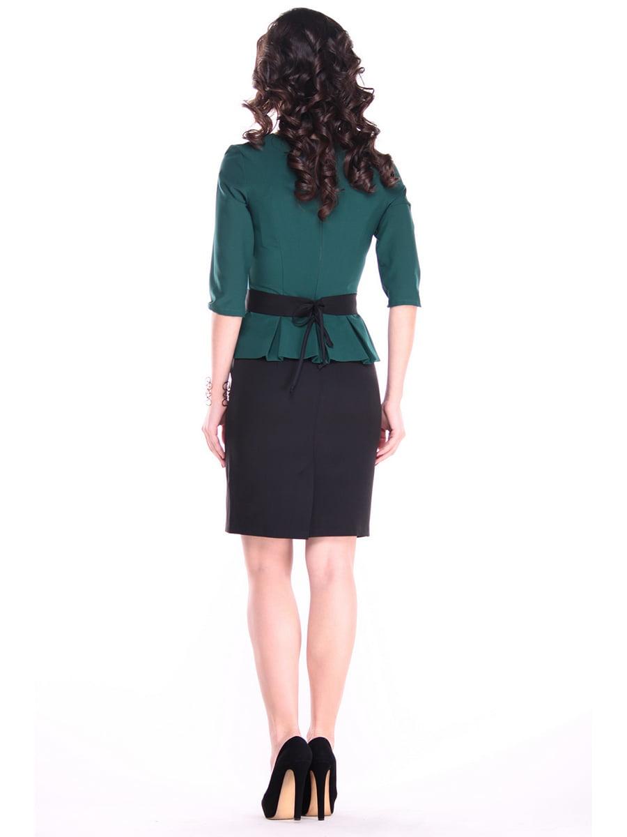 Платье темно-изумрудного цвета | 4619740 | фото 2