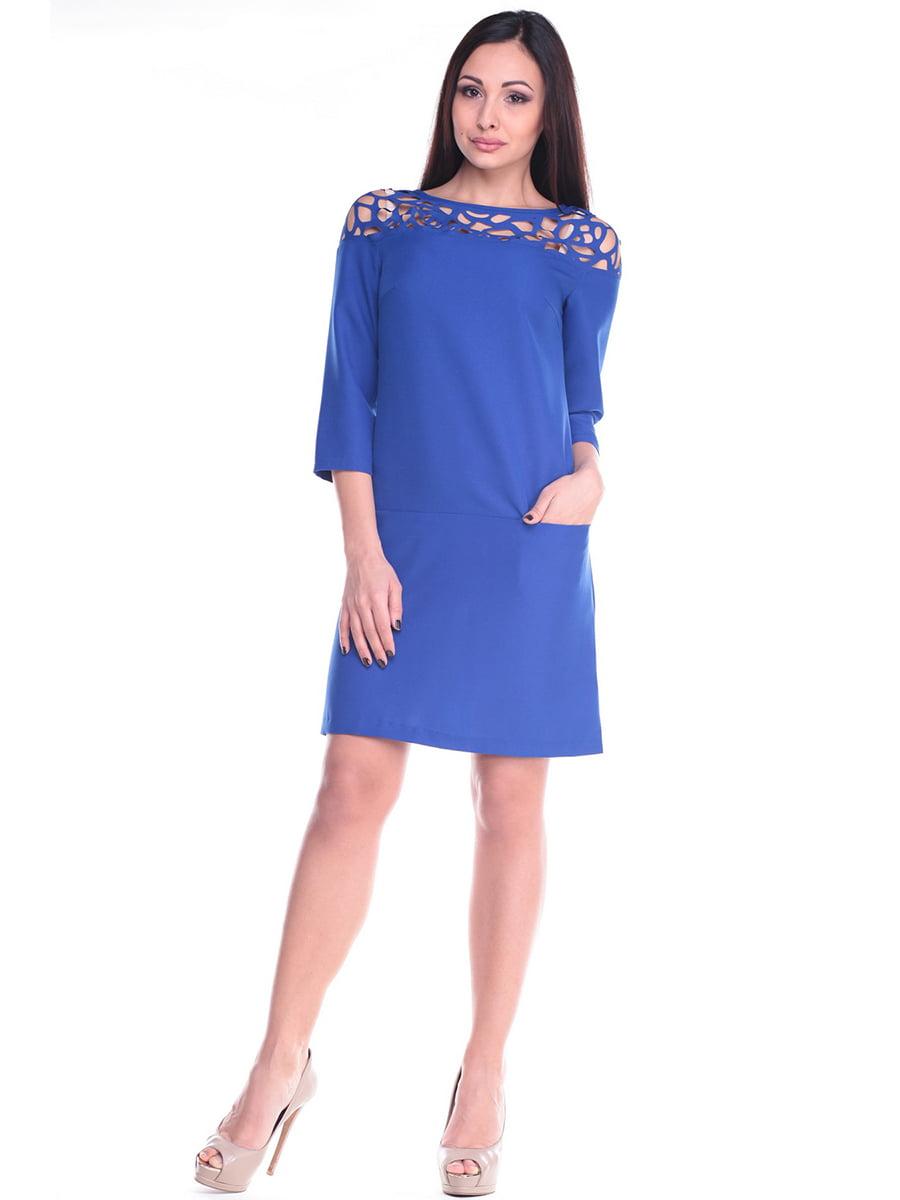 Платье цвета электрик   4619753