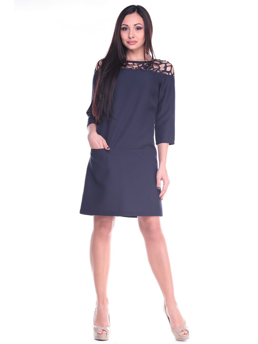Платье темно-синее | 4619757 | фото 4