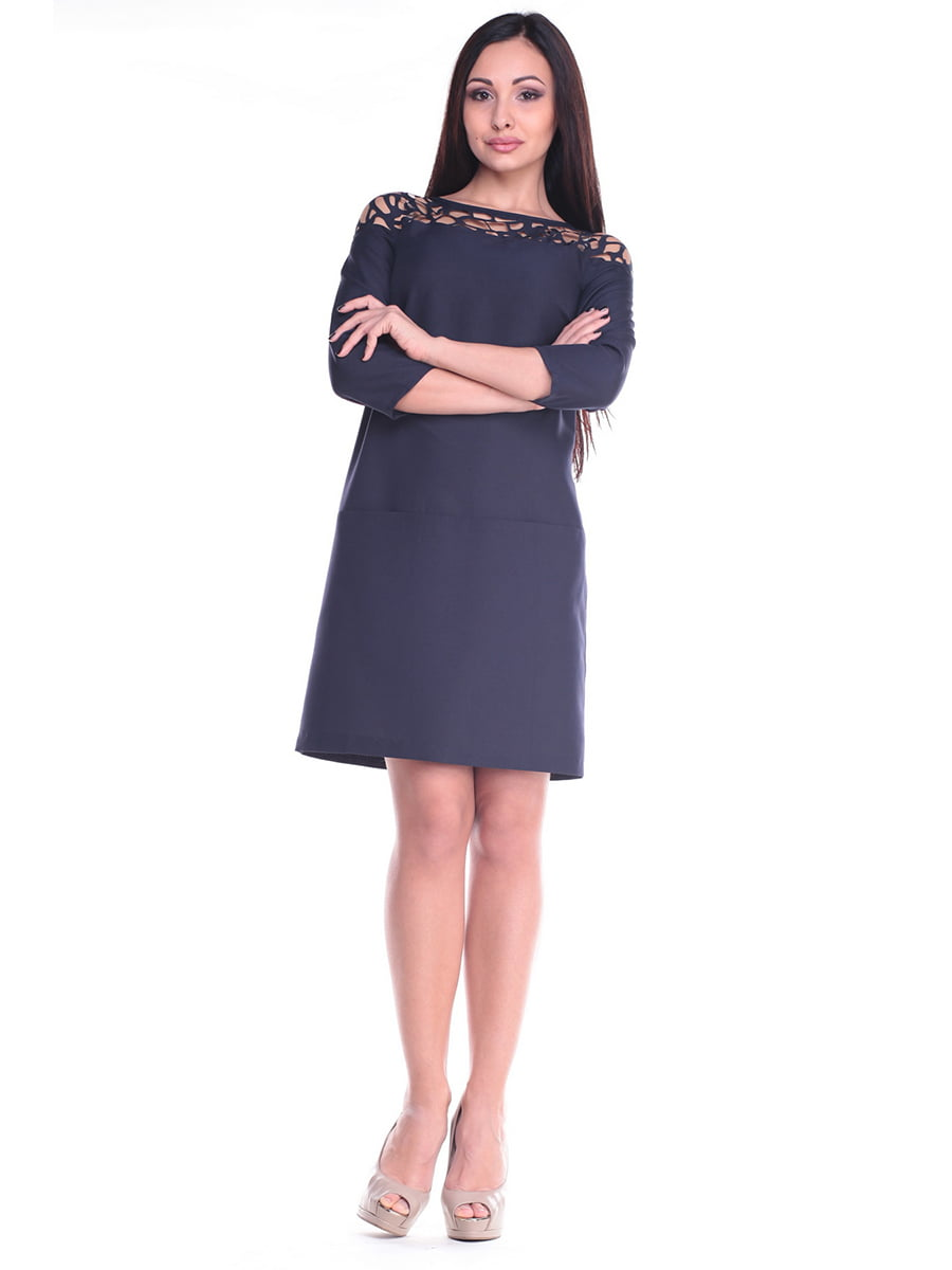 Платье темно-синее | 4619757 | фото 5