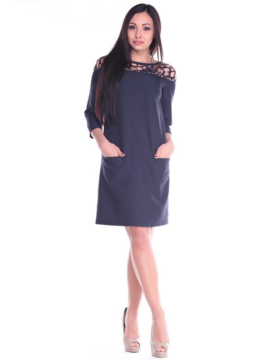 Платье темно-синее | 4619757