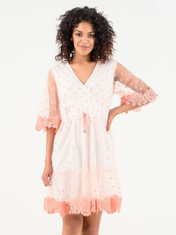 Платье розово-белое | 4271872